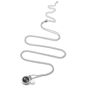 Proud MaMa Babybell Baby Feet Ballchain Silver-Plate